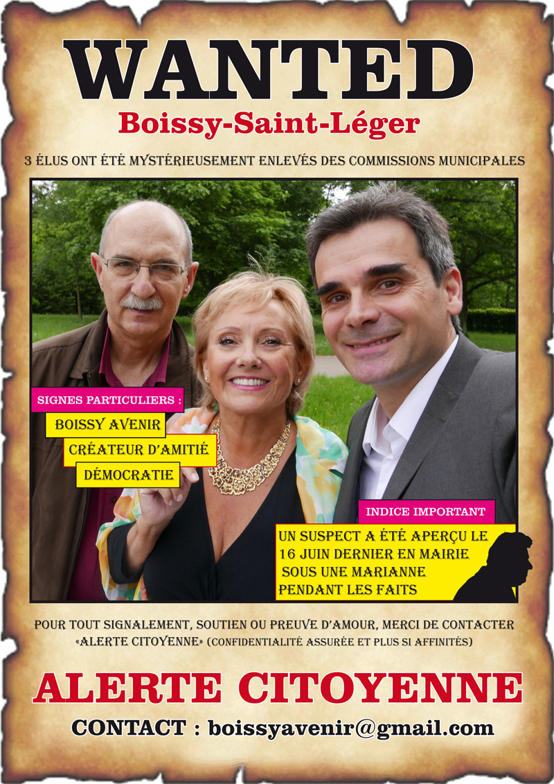 Wanted Boissy-st-leger